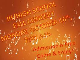 Checkout the time of the FALL CONCERT!!!