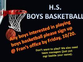 Boys Basketball Sign Up!