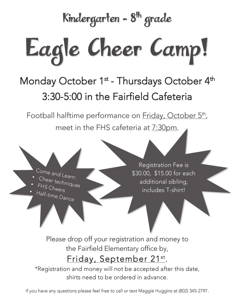 Little Eagle Cheer Camp!