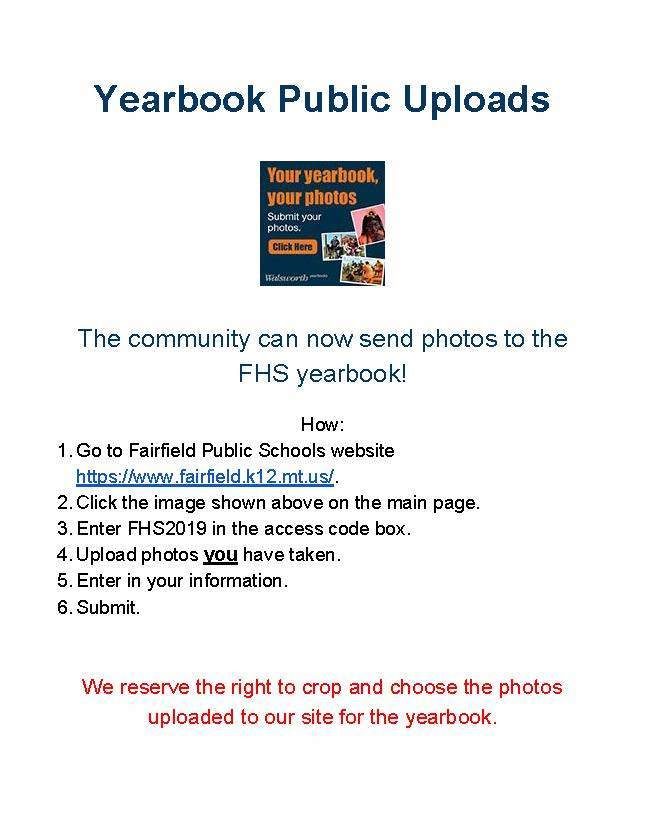 Yearbook Public Uploads!!!