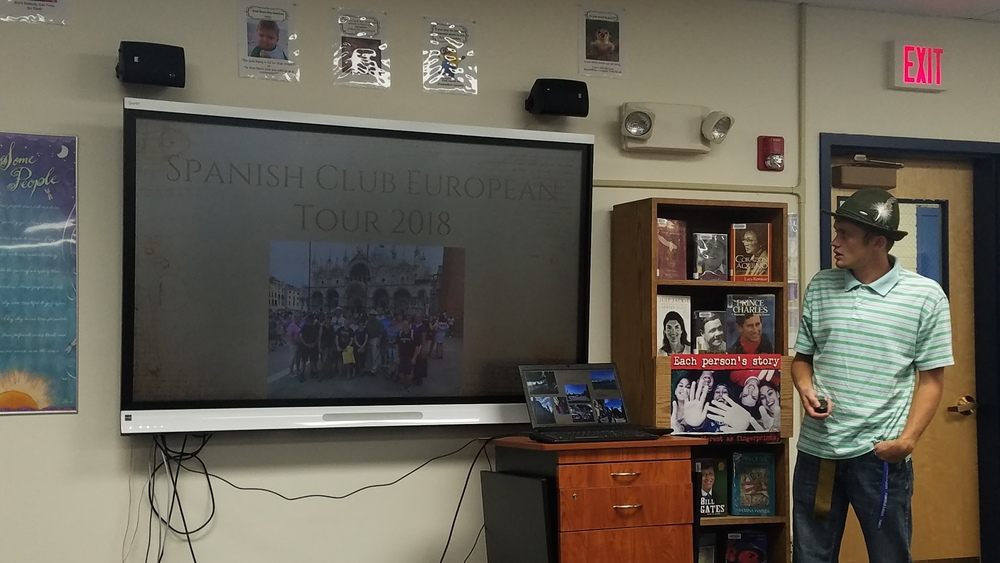 Spanish Club Presents to the Fairfield School Board!