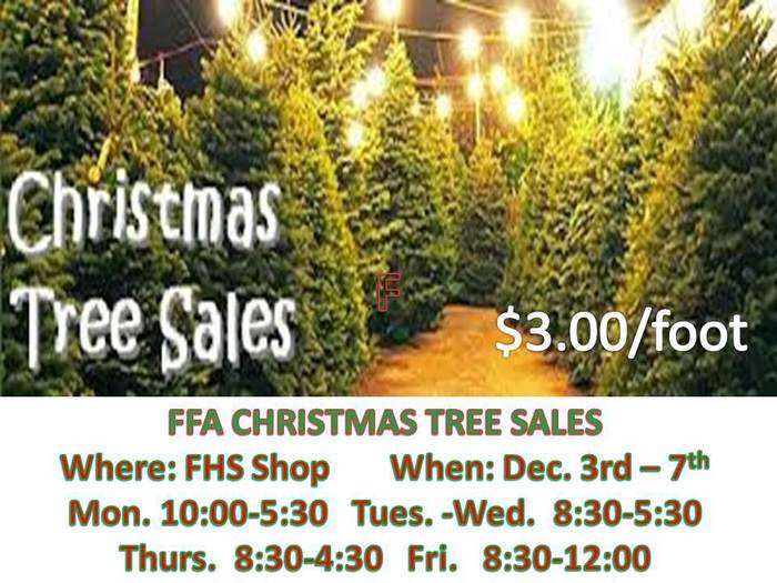 FFA - Christmas Tree Sales!