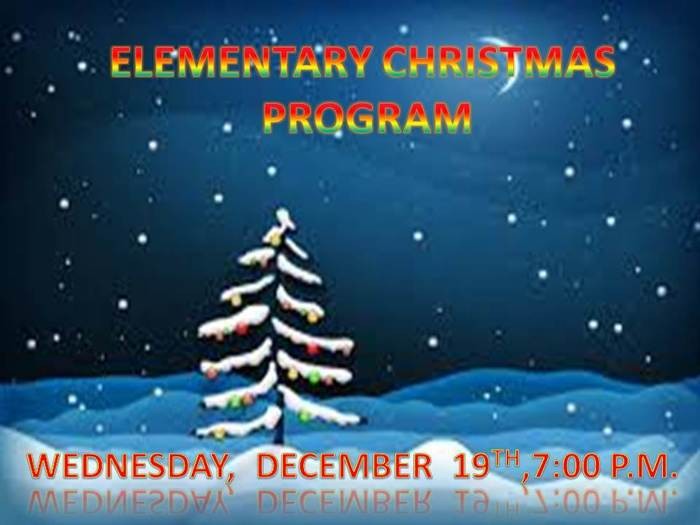 Elementary Christmas Concert!!!