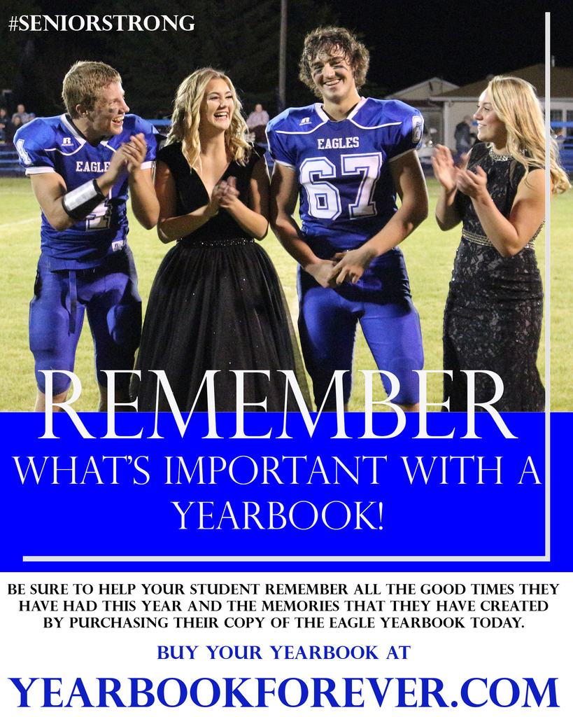 We have been shorted a few things this year, but don't let the memories be one!  Final call for Yearbooks.