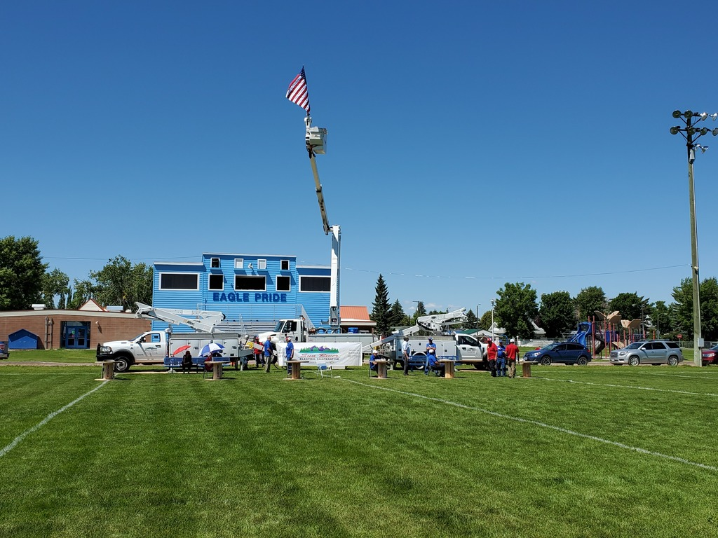 Sun River Electric Annual Meeting on the Fairfield Football Field