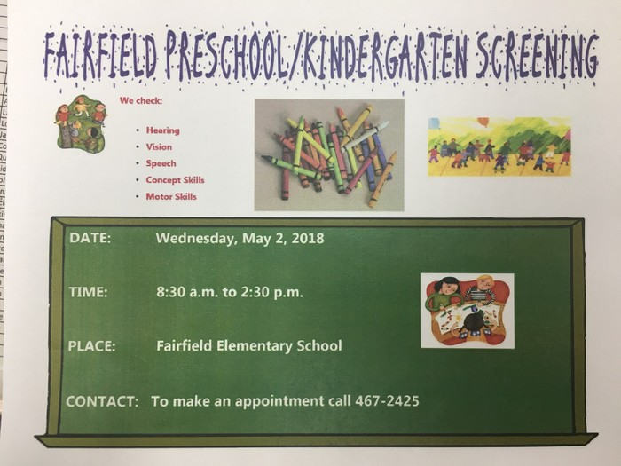 Preschool/KIndergarten Screening